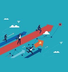 Business society concept with ambitious people vector