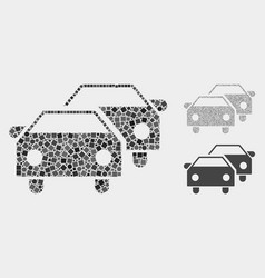 Car traffic icon mosaics squares and circles vector