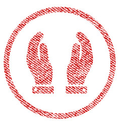 Care hands fabric textured icon vector