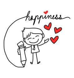 cartoon concept happiness vector image
