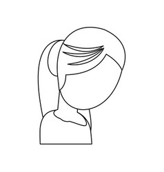 Character mother female image outline vector