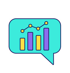 Chatbot graph color icon vector