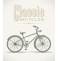 Classic cruiser bicycle vector image
