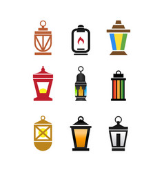 collection fanoos lantern graphic design vector image