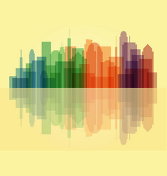 colorful transparent cityscape background vector image