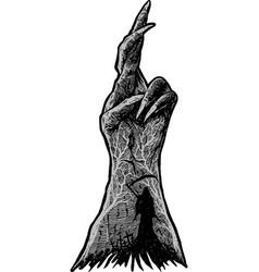 Dark hand vector