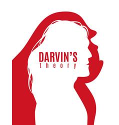 Darwin theory poster vector