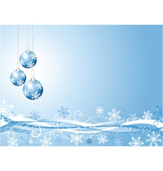 decorative winter background vector image vector image
