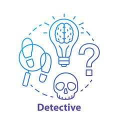 detective literature blue concept icon crime vector image