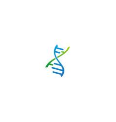 Dna sign logo vector