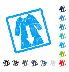 Download female dress icon rubber watermark vector