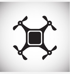 Drone quadcopter icon on white background for vector