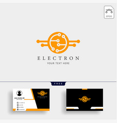 Electrical connection technology logo template vector