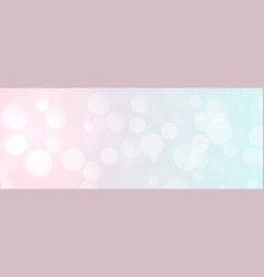 Elegant soft color bokeh banner with text space vector