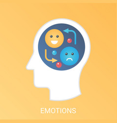 emotions concept modern gradient flat vector image