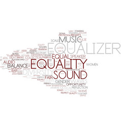 Equalizer word cloud concept vector