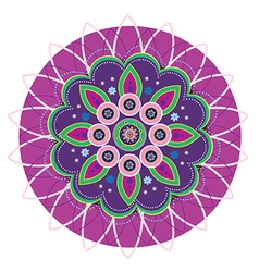 Flower pattern mandala vector