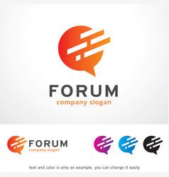 Forum logo template design vector