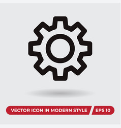 gear icon in modern style for web site and mobile vector image