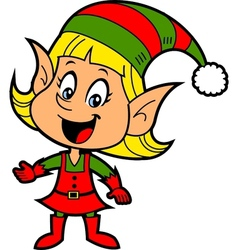 Girl Christmas Elf vector image vector image