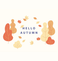 hello autumn concept in flat vector image