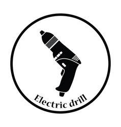 Icon of electric drill vector image