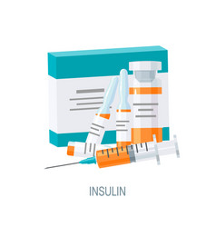 insulin concept in flat style icon vector image