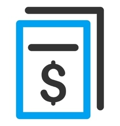 Invoices Flat Icon vector image