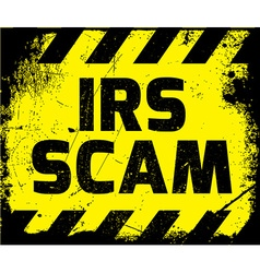 IRS scam sign vector
