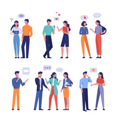 live and online communication flat vector image