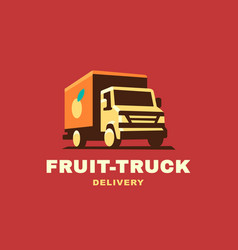 logo delivery service concept vector image