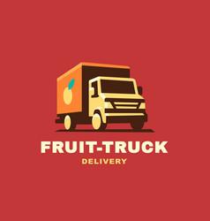 Logo delivery service concept vector