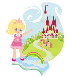 Magic book with a beautiful fairy tale vector