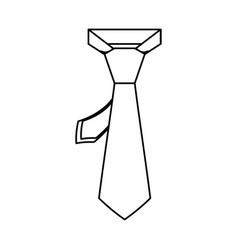 male executive tie vector image