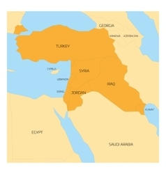 Map of Middle East region vector image