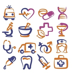 medical icons vector image