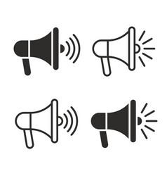 Megaphones icons set vector