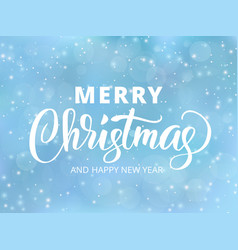 Merry christmas and happy new year text holida vector