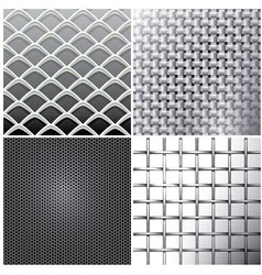 Metallic mesh set vector image