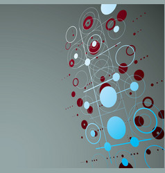 modular bauhaus 3d red background created from vector image