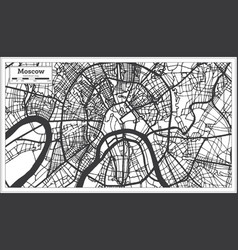 moscow russia city map in black and white color vector image