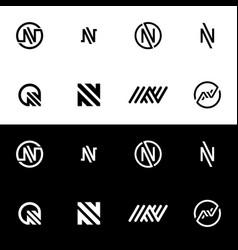 n logo symbol vector image