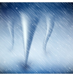 Natural background with tornado vector image