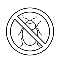 No potato beetle sign icon outline style vector image vector image