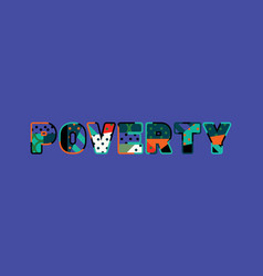 poverty concept word art vector image
