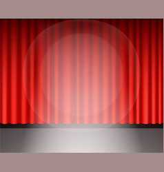 red theater curtain with light vector image