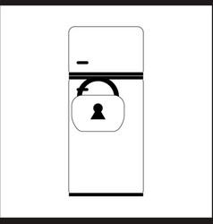 Refrigerator lock on the lock vector