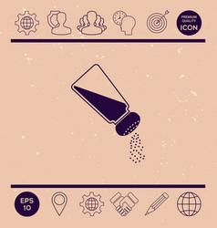 salt or pepper shaker vector image