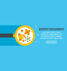 Scientific developments banner horizontal concept vector