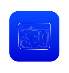 Seo icon blue vector